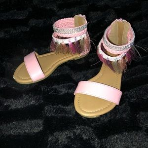 Nanette Lepore Shoes - Baby Pink Leather Sandal! Kids Size 11c!